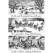 Holiday Scenes Cling Stamps  - Tim Holtz - PRE ORDER