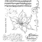 The Poinsettia Cling Stamps  - Tim Holtz - PRE ORDER