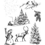 Winterscape Cling Stamps  - Tim Holtz