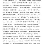 Tiny Text Christmas Cling Stamp  - Tim Holtz