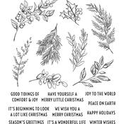Sketch Greenery Cling Stamp  - Tim Holtz - PRE ORDER
