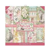 Orchids & Cats 8x8 Paper Pad - Stamperia - PRE ORDER