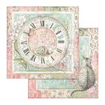 Clock & Cat Paper - Orchids & Cats - Stamperia