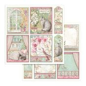 Orchid Cards Paper - Orchids & Cats - Stamperia - PRE ORDER