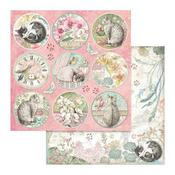Orchid Rounds Paper - Orchids & Cats - Stamperia - PRE ORDER