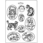 Cats Soft Maxi Mould  - Orchids & Cats - Stamperia - PRE ORDER