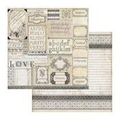 Patchwork Of Labels Paper - Stamperia - PRE ORDER