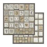 Alphabet Paper - Calligraphy - Stamperia - PRE ORDER
