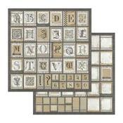 Alphabet Paper - Calligraphy - Stamperia