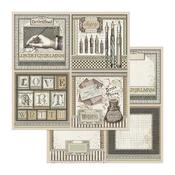 Calligraphy Cards Paper - Calligraphy - Stamperia - PRE ORDER