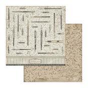 Vintage Pens Paper - Calligraphy - Stamperia - PRE ORDER