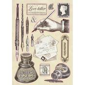 Calligraphy Ink Wooden Shapes A5 - Stamperia - PRE ORDER