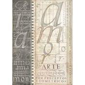 Alphabet Rice Paper A4 - Stamperia - PRE ORDER