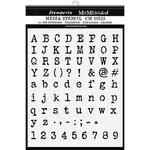 Alphabet & Numbers Stencil  - Stamperia