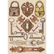 Locks & Keys Wooden Shapes A5 - Stamperia - PRE ORDER