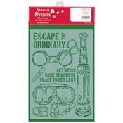 Escape The Ordinary - Lady Vagabond Stencil G - Stamperia - PRE ORDER