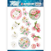 Red Winter Flowers Punchout Sheet - Find It Trading