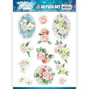 Pink Winter Flowers Punchout Sheet - Find It Trading
