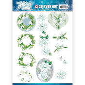 White Winter Flowers Punchout Sheet - Find It Trading