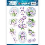 Purple Winter Flowers Punchout Sheet - Find It Trading