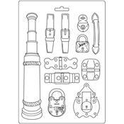 Belts & Fasteners Soft Maxi Mould 8.5x11.5 - Stamperia - PRE ORDER