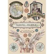 Travel Journal Wooden Shapes A5 - Stamperia - PRE ORDER