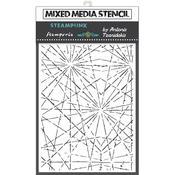 Cracks Stencil 5.90x7.87 - Stamperia - PRE ORDER