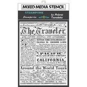 The Traveler Stencil 5.90x7.87 - Stamperia - PRE ORDER
