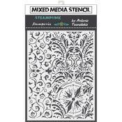 Wallpaper & Compass Stencil 5.90x7.87 - Stamperia - PRE ORDER