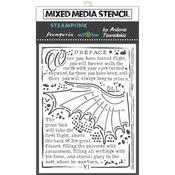 Wings Stencil 5.90x7.87 - Stamperia - PRE ORDER