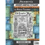 The Traveler News Cling Stamp 5.90x7.87 - Stamperia - PRE ORDER