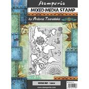 Vintage Map Cling Stamp 5.90x7.87 - Stamperia - PRE ORDER