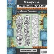 Steampunk Borders Cling Stamps 5.90x7.87 - Stamperia - PRE ORDER