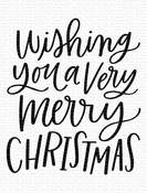 Wishing You a Very Merry Christmas Clear Stamp 3x4 - My Favorite Things - PRE ORDER