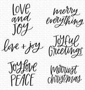 Mini Merry Messages Clear Stamps 4x4 - My Favorite Things - PRE ORDER