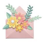 Flowers w/ Envelope Thinlits Die Set - Sizzix