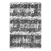 Typewriter 3D Texture Fades Embossing Folder By Tim Holtz - Sizzix - PRE ORDER