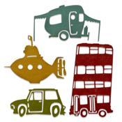 Wacky Transport #1 Thinlits Dies by Tim Holtz - Sizzix