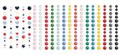 4 Pack Enamel Dots & Shapes - Foundations Décor