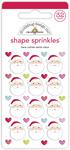 Here Comes Santa Claus Shape Sprinkles - Doodlebug