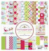 Night Before Christmas 12x12 Paper Pack - Doodelbug - PRE ORDER