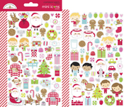 Night Before Christmas Mini Icon Sticker Sheets - Doodlebug - PRE ORDER