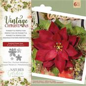 Poinsettia Perfection Nature's Garden Vintage Christmas Die - PRE ORDER