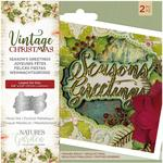 Season's Greetings Nature's Garden Vintage Christmas Die