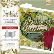 Season's Greetings Nature's Garden Vintage Christmas Die - PRE ORDER