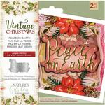 Peace On Earth Nature's Garden Vintage Christmas Die