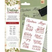 Christmas Magic Nature's Garden Vintage Christmas Clear Stamps - PRE ORDER