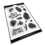 Pinecone Greetings Stamp Set - Catherine Pooler