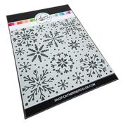 Snowfall Stencil - Catherine Pooler