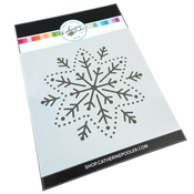 Embroidered Snowflake Stencil - Catherine Pooler
